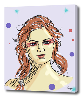 Emma Stone surreal portrait illustration