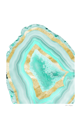 Agate Gold Foil Glam #2 #gem #decor #art
