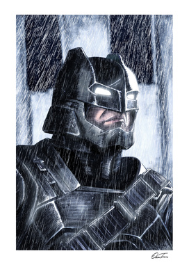 Armored Batman - Ink & Digital Portrait