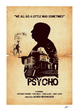 Hitchcock Psycho movie art