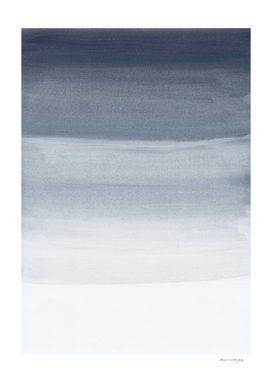 Touching Midnight Blue Watercolor Abstract #1 #painting