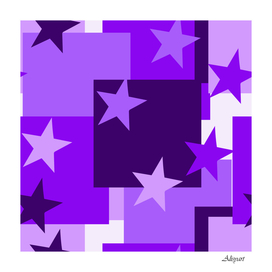 purple stars pattern shape