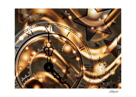time clock star hour day night