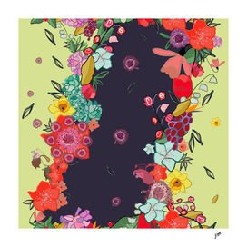 Colorful happy small spring flowers pattern