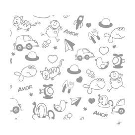 children drawings baby fish cat