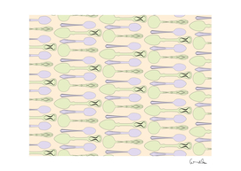 spoon pattern illustrator green