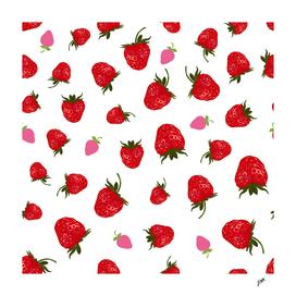 Fruity fresh strawberry pattern