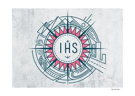 IHS Jesuit Christian symbbol