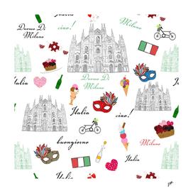 Milan Italy Pattern