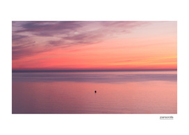 Sunrise with boat