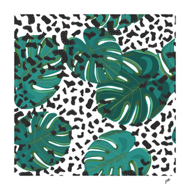 Seamless pattern for textile design. Colorful leopard