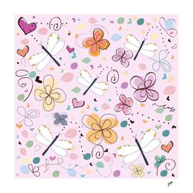 Abstract decorative summer pattern illustration backgraund