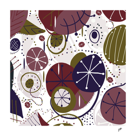 Active wear abstract pattern illsutration