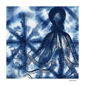 Octopus Shibori Square