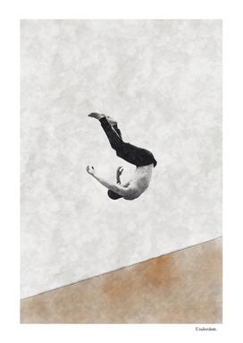 Falling down ...