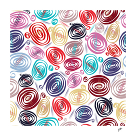 Colorful simple flowing swirls