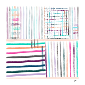 Colorful striped brushes pattern