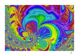 fractal neon art artwork fantasy