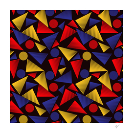 trendy colorful triangle
