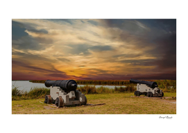 Cannons at Sunset