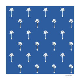 Palm silhouettes On Blue Motif