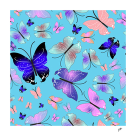 Spectrum colorful artistic design butterfly pattern