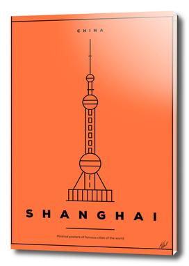 Minimal Shanghai City Poster