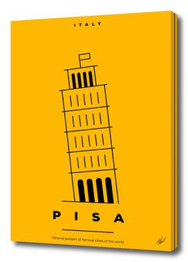 Minimal Pisa Tower Poster