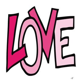love font headline text valentine