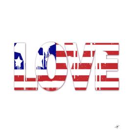 usa us flag love spray paint