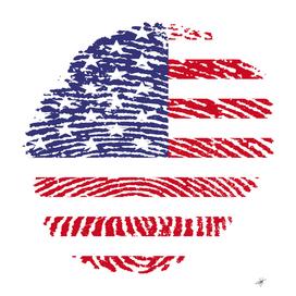 united states fingerprint flag