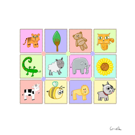 kiddies puzzle pieces prints
