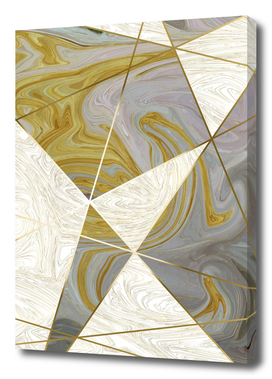 Grey Gold Marbled Fragments