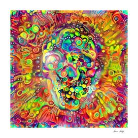 Vivid Skull Silhouette