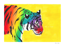 BE PROUD BIG, graphic, jungle cat, big cat, ghepard,