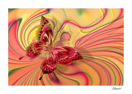 arrangement butterfly pink