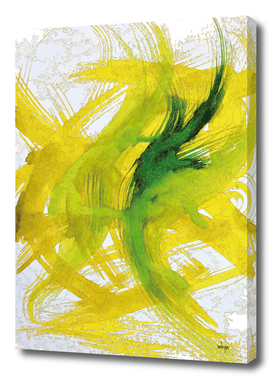 Green Yellow Swashes