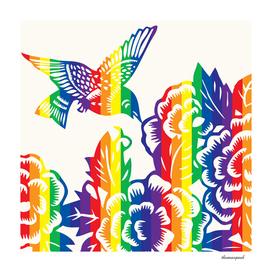 Hummingbird Rainbow Cream