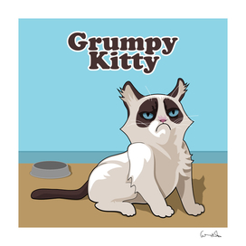 Grumpy kitty cat mieze pet animal portrait