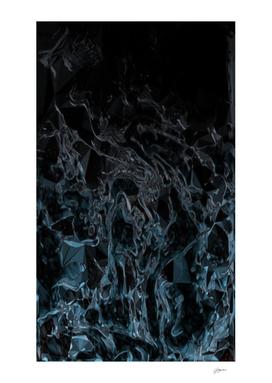 Cracked Black Ice - light blue grey black gradient swirls