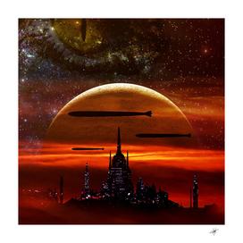 science fiction digital illustration