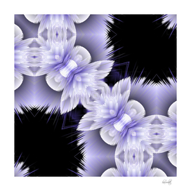 double trouble abstract flowers