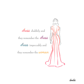 Inspirational quote about fashion