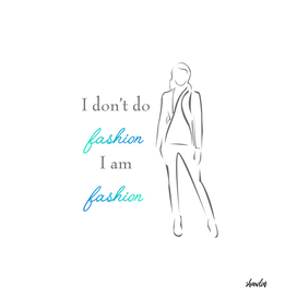 Inspirational quote about fashion- woman in elegant gown