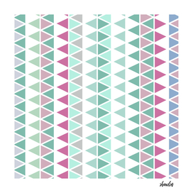 Six color chalky pastel triangles pattern texture