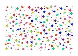 star random background scattered