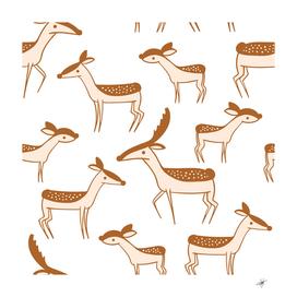 seamless deer pattern design