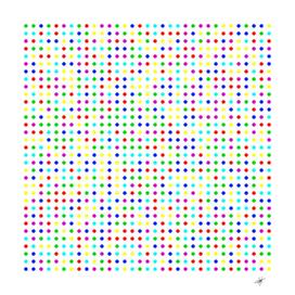 dots color rows columns background