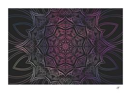 mandala neon symmetric symmetry