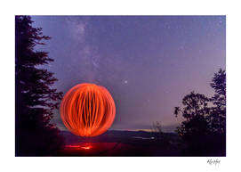 Milky Way behind an Orb